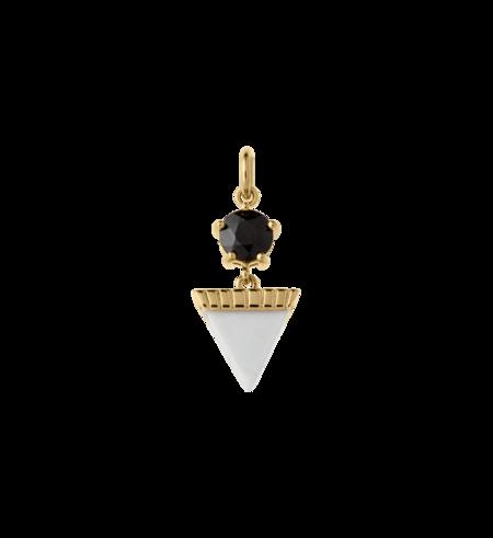 Kirstin Ash Triangle Drop Howlite Pendant - Gold
