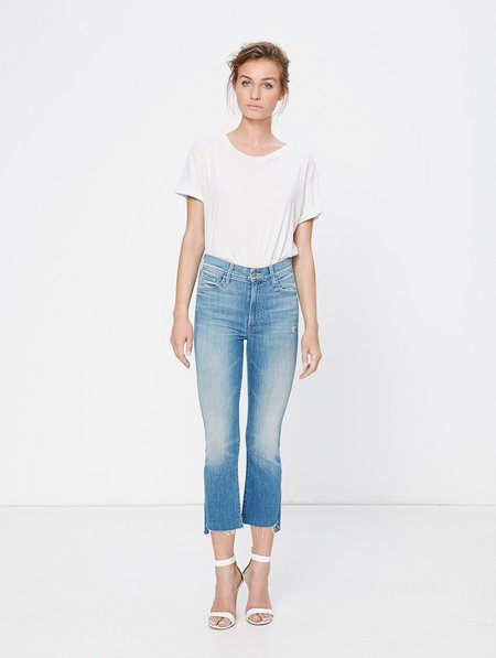 Mother Denim INSIDER CROP STEP FRAY