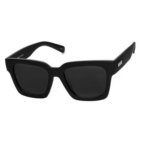 Le Specs WEEKEND RIOT SUNGLASSES - BLACK RUBBER