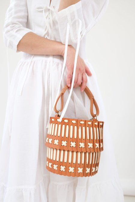 Hatori Basket - Tan and Cream