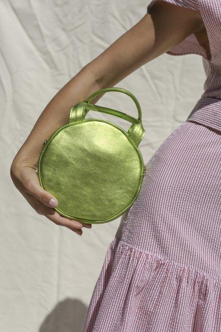 CAB Collection Mini Lisa Circle Bag - Lime Metallic