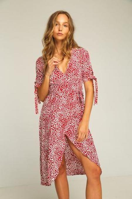 Rue Stiic Albany Wrap Dress - Heart Print