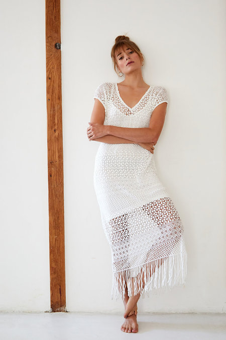 Callahan Paloma Crochet Maxi dress - White