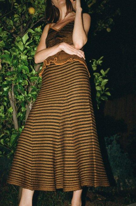 Maria Dora Misa Circle Skirt - Tabac/Black