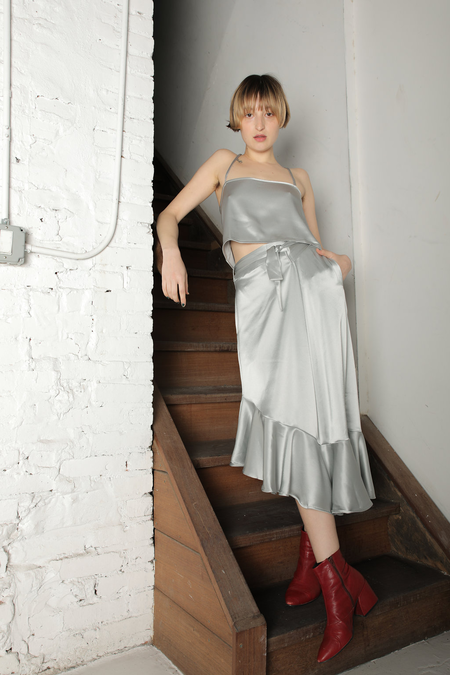 Ajaie Alaie Flamenca Skirt - Silver