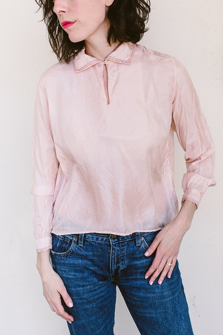 Sula Silk Top - Pink
