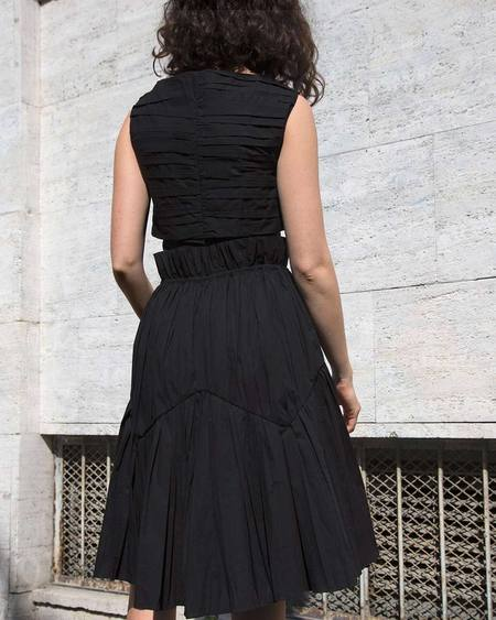 Assel Tun Cotton Skirt - Black