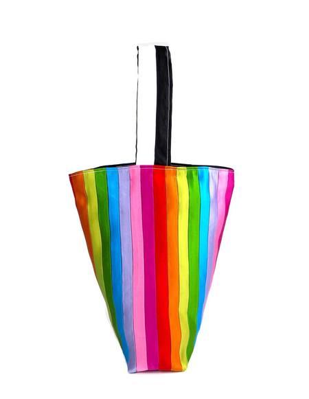 TARONI Rainbow Silk Bucket Bag