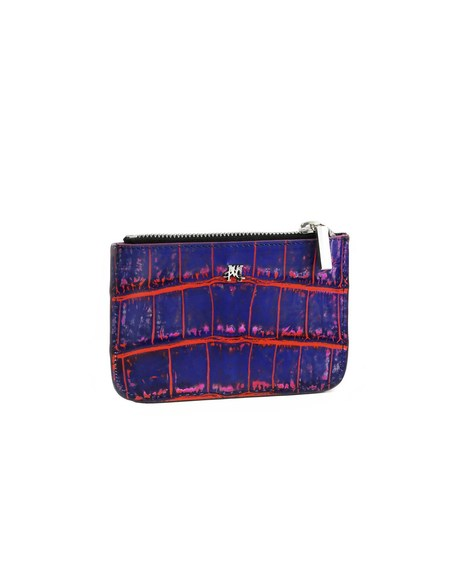 Hugo Matha Degradé Blue Alligator Wallet