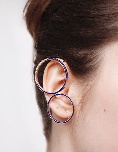 Kim Mee Hye Foyer Ear Cuff - Gold Blue
