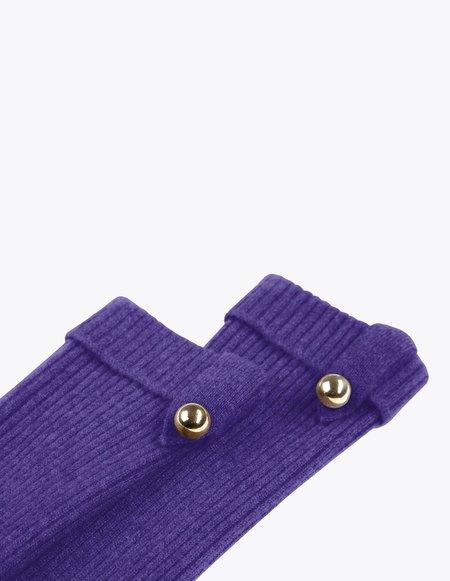 Bonnie's Short Eco-friendly Cashmere Arm Warmers - Purple