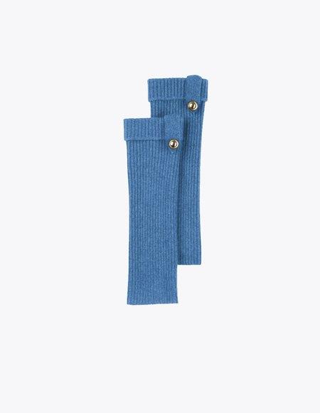 Bonnie's Short Eco-friendly Cashmere Arm Warmers - Blue