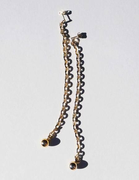 Saskia Diez Gold Barbelle Earrings