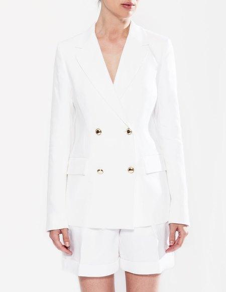 Paul & Yakov Anatoly Linen Jacket - White