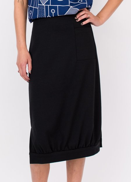 A. Oei Square Knit Skirt - Black