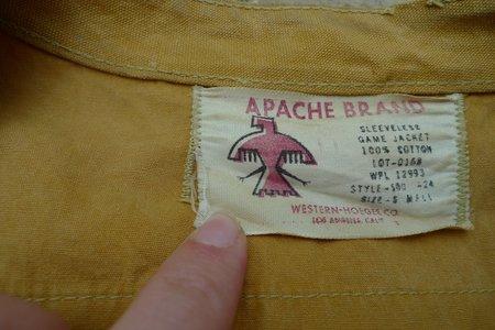 Unisex 1960's Apache Brand Hunting Vest - Yellow