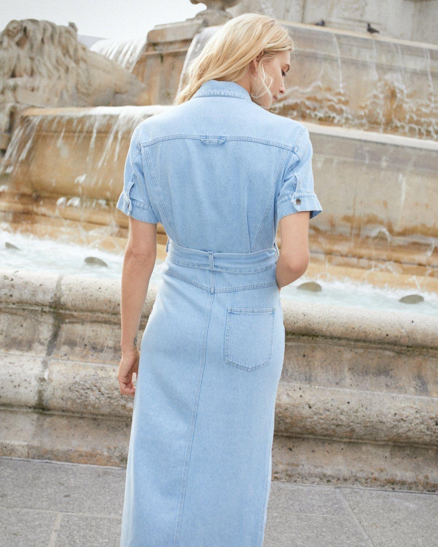a183a5440a5 Nanushka Goji Denim Shirt Dress - Light Blue