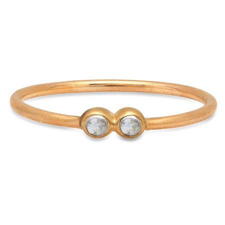 Studio Grun Double Crown Ring - Bronze + Moonstone