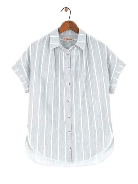 Mollusk Bossa Shirt - Grey + Teal
