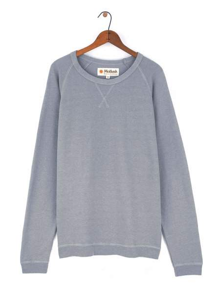 Mollusk Hemp Raglan Crew - Cloud Grey