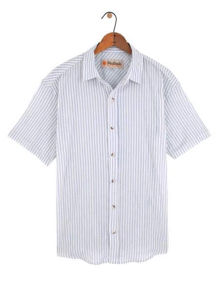 Mollusk Summer Shirt - Light Blue Stripe