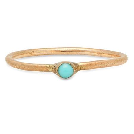 Studio Grun Single Crown Ring - Bronze/Turquoise