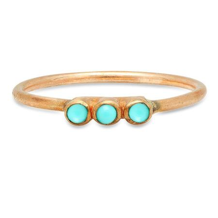 Studio Grun Triple Crown Ring - Bronze + Turquoise