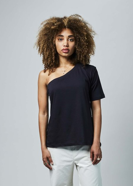 Sibel Saral B1 One Shoulder Tee - navy
