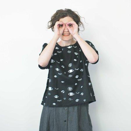 Jenny Lemons Eyes Wide Box Top - Black