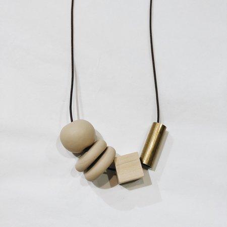 Sonia Gracia Handmade Bead Mix Necklace 2 - Sand