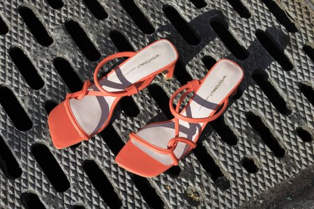 """""""INTENTIONALLY __________."""" WILLOW heels - Neon Coral"""