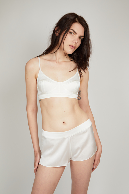 OH Organic Silk Shorts - White