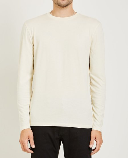 321 CREW NECK LONG SLEEVE TEE - ECRU