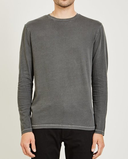 321 CREW NECK LONG SLEEVE TEE - MEDIUM GRAY