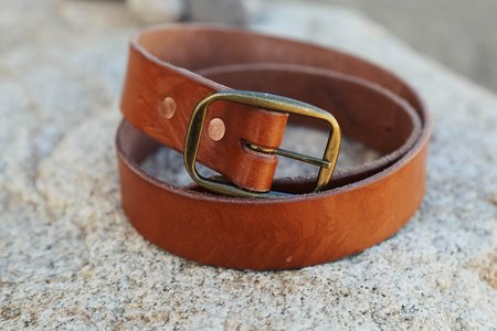 Unisex Tom Clothes & Goods Whiskey-Dyed Belt