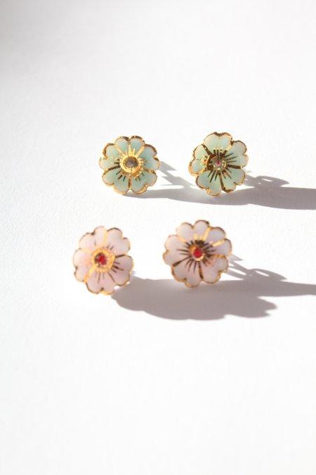 Beklina Porcelain Cherry Blossom Stud Earrings