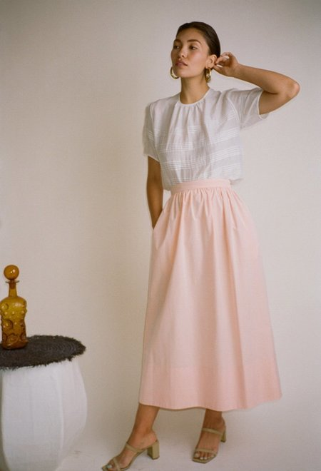 Thierry Colson Sissi Long Skirt Apricot