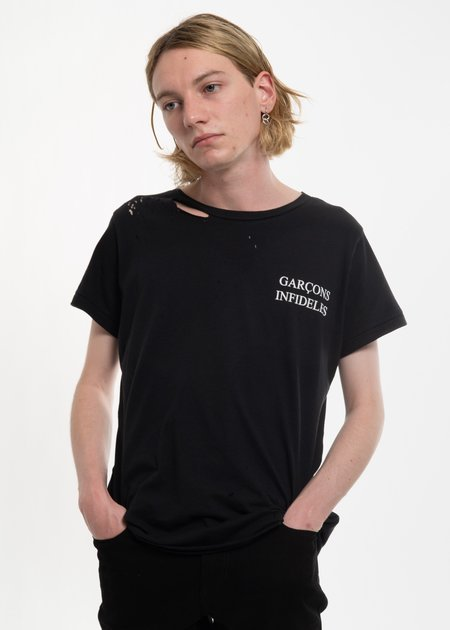 Garcons Infideles Thank You T-Shirt - Black