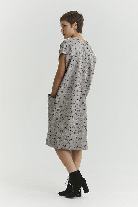 Ursa Minor Studio GENNY DRESS - PEWTER PRINT