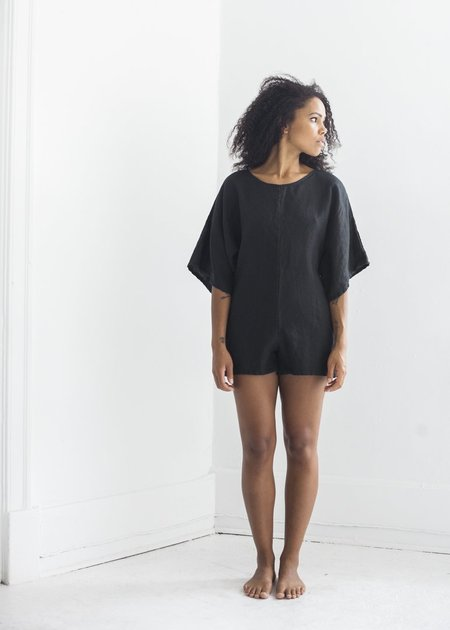Nahanni Arntzen Wide Sleeve Romper - Black