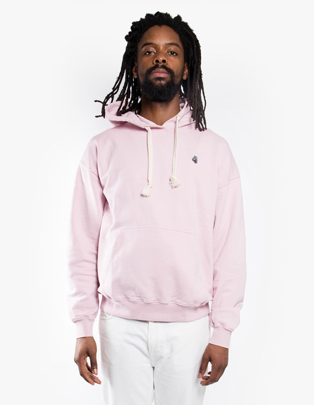 Tres Bien Merch Hood Fleece Back - Pale Pink