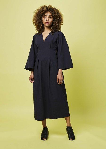 Happy Haus V-Neck Kimono Dress - Night Blue