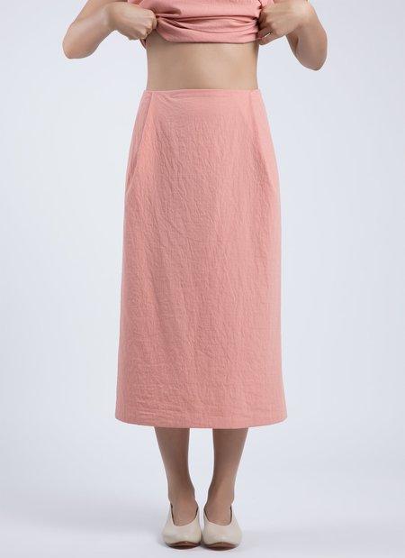 Kaarem Patches Midi Skirt - Peach