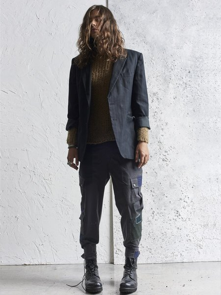 78 STITCHES 1.5 Combat Patch Pant - Washed Black