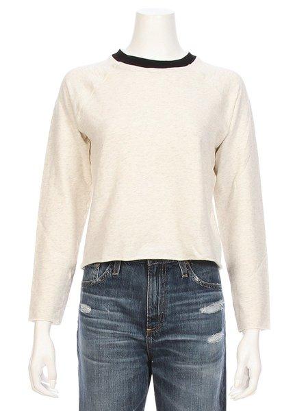 Monrow Contrast Collar Sweatshirt