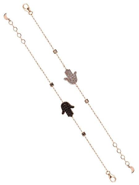 BETTINA JAVAHERI Hamsa Double Sided Diamond Bracelet