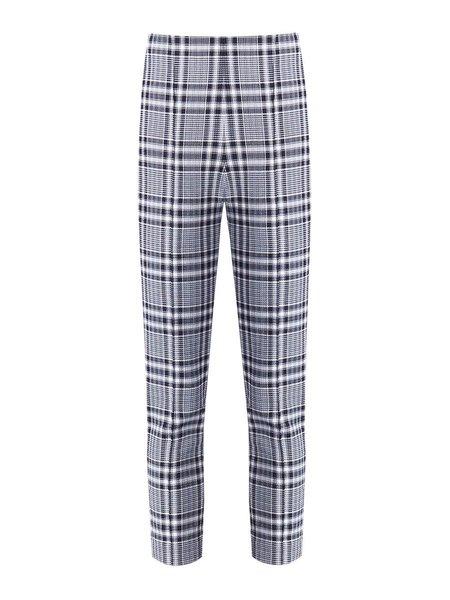 Veronica Beard Honolulu Plaid Skinny Pant - BLACK/WHITE/BLUE