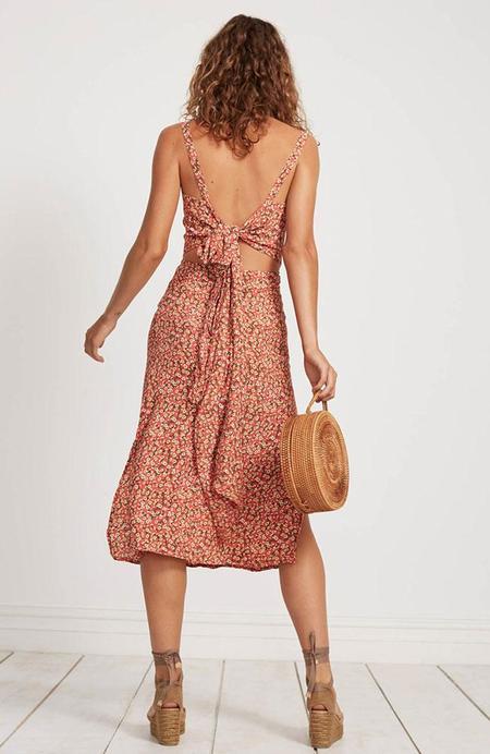 Faithfull The Brand Katergo Midi Dress - Pink Blossom