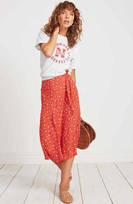 Faithfull The Brand Linnie Skirt - Red