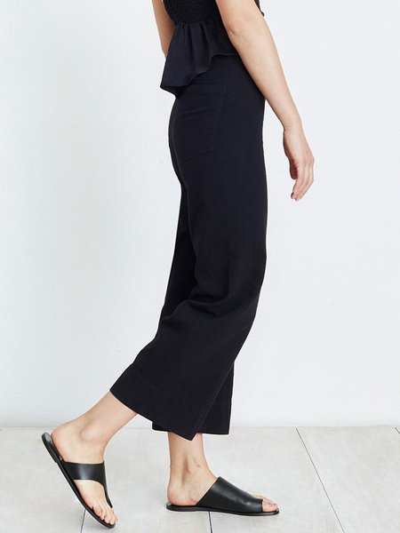 Apiece Apart Merida Wide Leg Crop Pant - BLACK